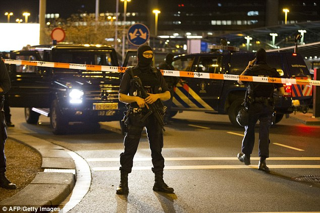 Evacuation: Amsterdam's Schiphol's airport has been partially evacuated after officials raised the alarm