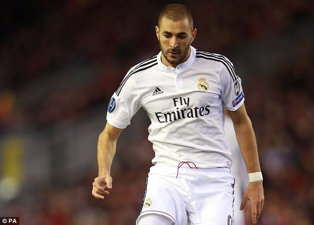Karim Benzema and Real Madrid visited Anfield for a  Champions League night in Liverpool in 2014