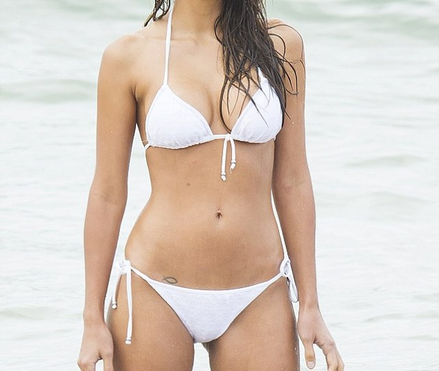 Sizzling Pia Miller Looked Incredible In A White Bikini As She Filmed Scenes For Home