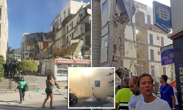 Tenerife building collapse in Los Cristianos leaves 2 ...
