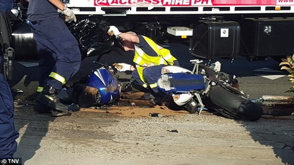 Male motorcyclist DIES after head-on collision with truck ...