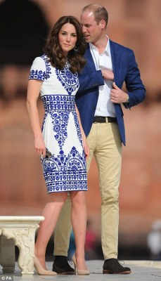 William was smart casual in chinos, a jacket and an open-necked shirt