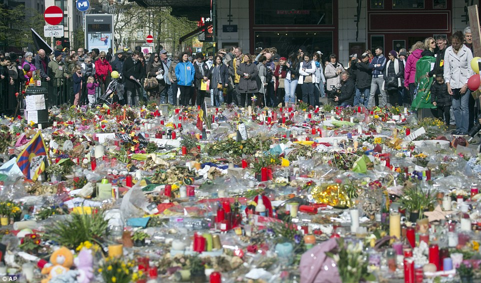 Almost a month before today's march, 32 people were killed in the March 22 bomb attacks which targeted Zaventem airport and a subway train at Maalbeek station