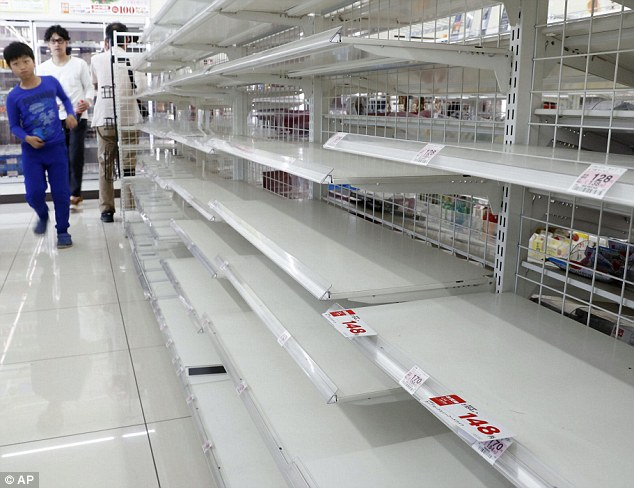 Severed supply chains and distribution channels mean that supermarket shelves stand empty, after they've been picked clean by panicked shoppers