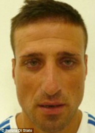 Facing jail: Yusapha Susso was shot through the head by local mobster Emanuele Rubino (pictured)