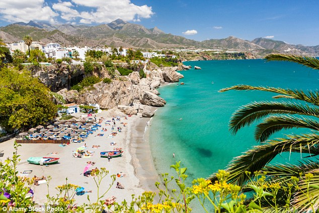 Threat: ISIS is sending jihadists to pretend to sell refreshments before detonating suicide vests and bombs buried under sun loungers at Spanish, French and Italian resorts, including  Costa Del Sol in Spain (pictured)