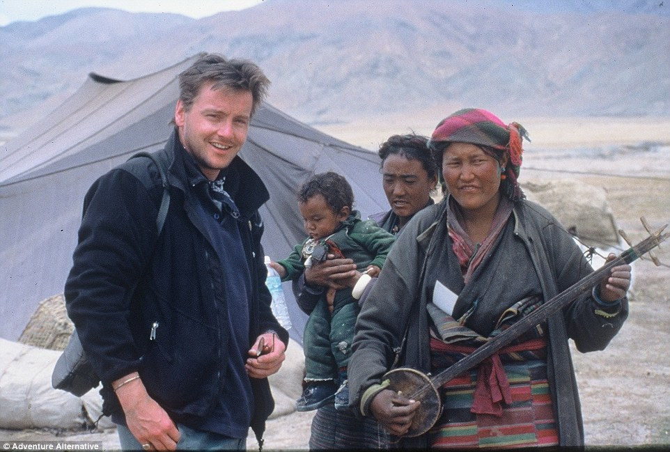 Gavin is pictured at Base Camp during one of his earlier climbs up Mount Everest