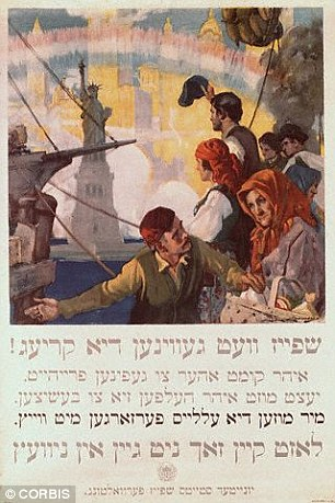 Yiddish isis written in an alphabet based on Hebrew characters. This US World War One poster is written in Yiddish and begins 'Food will win the war'