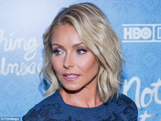 No show: Kelly Ripa (above on April 4)did not appear on Live With Kelly and Michael Wednesday morning, the day after it was announced Michael Strahan was leaving