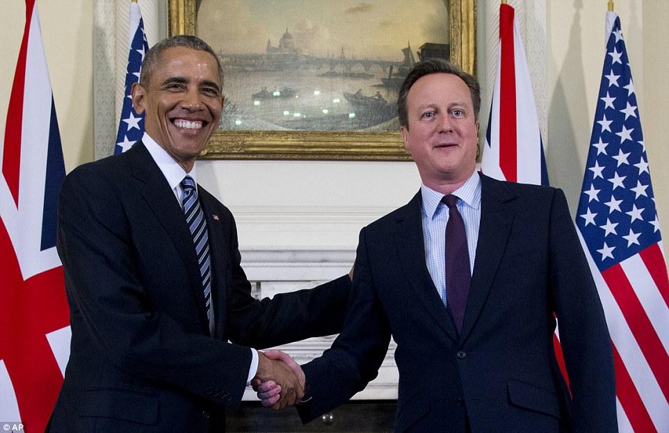Após as sutilezas com a realeza, Obama falou de negócios com o Primeiro-Ministro e emitiu um alerta para o público britânico das conseqüências de deixar a União Europeia