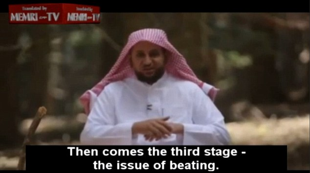 Mr Al-Saqaby says beating should be the last resort and is not to 'vent one's anger' but to impose discipline