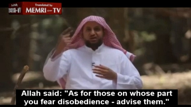 The first step in his advice on dealing with 'disobedient wives' is to 'advise them' on their duties