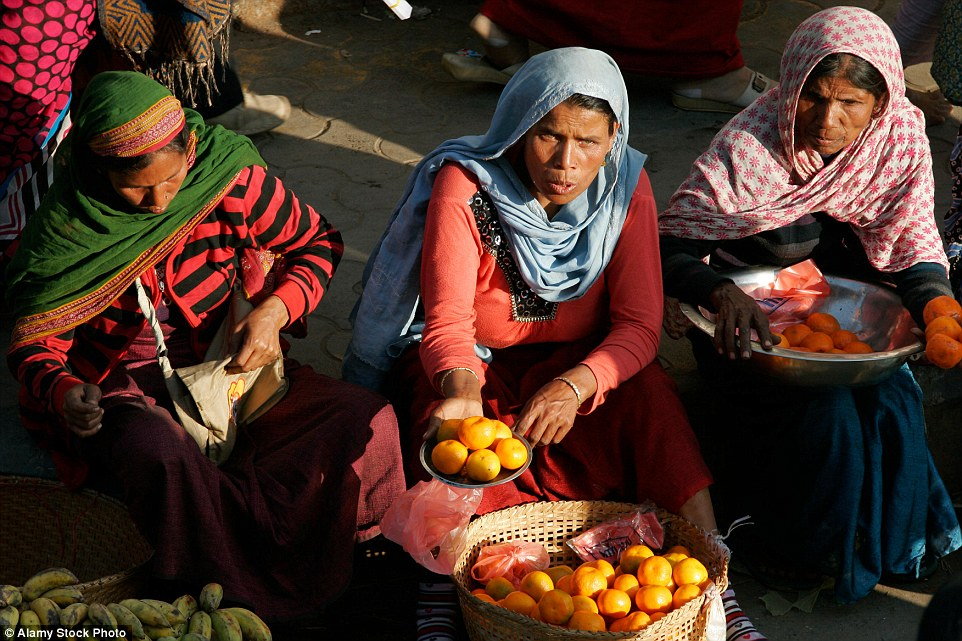 Female traders at Ima Keithel market in Imphal, Manipur, northeastern India must be married to sell their wares at the market