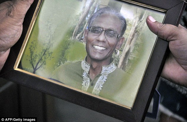 Sajidul Karim Siddique, a brother of the professor (pictured), said he was a 'very quiet and simple man' who was focused on studying and teaching