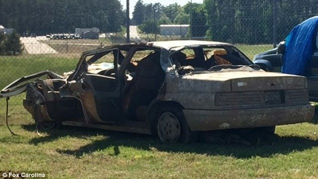 Dubose's 1995 Chevrolet Corsica (above) was recovered from Lake Russell in Calhoun Falls on Saturday