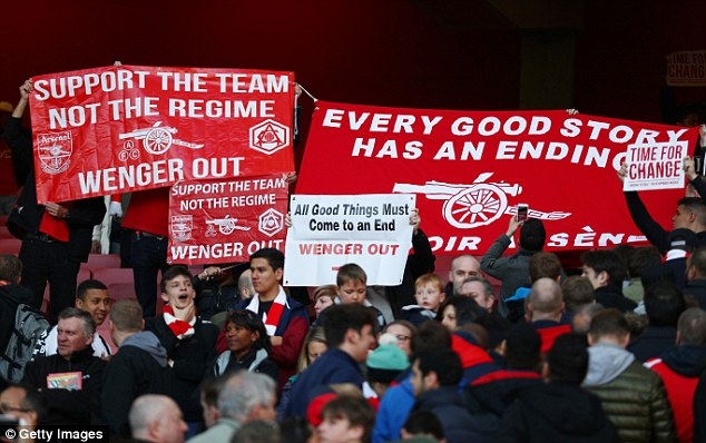 Image result for Arsenal fans angry against Arsene wenger