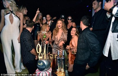 It's my party! She was surrounded by plenty of friends as she celebrated a week after turning 21