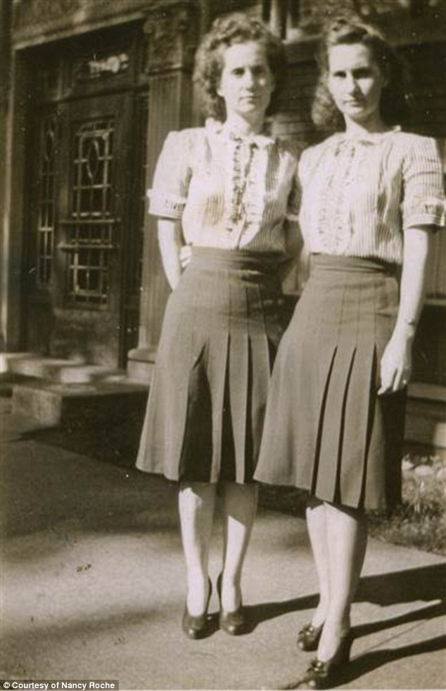 Rosie the Riveter: The twins temporarily moved to Detroit (pictured) to work in wartime factories during World War II after their husbands were drafted