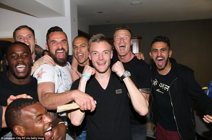 Jamie Vardy is really having a party along with tens of thousands of Leicester City fans around the world as The Foxes' 5,000/1 dream became a reality tonight