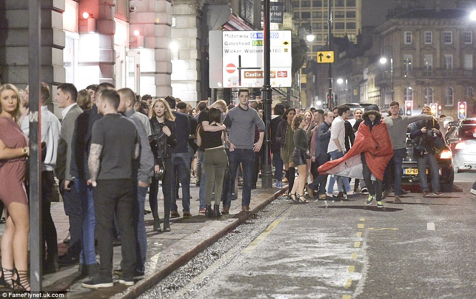 The streets of Newcastle were packed with clubbers until the early hours of yesterday morning on one of the busiest nights of the year