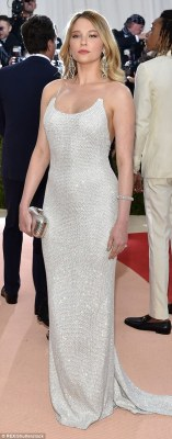 Shimmery chic: Actress Haley Bennett was literally sparkling while Moda Operandi co-founder Lauren Santo Domingo's dress caught the light with its trendy fringing
