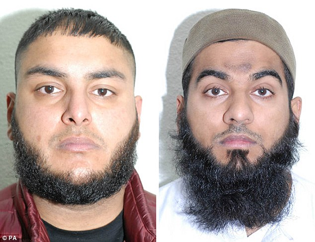 The trial also ended with the conviction of two men from Birmingham - Adil Bashir (left), 26, and 31-year-old Muhammad Ali Sheikh (right) - on the same charges