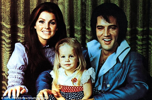 Presley (pictured center in 1970 with parents Priscilla and Elvis) was raised by her mother Priscilla in the church of Scientology, but since 2008 she has gradually distanced herself from the religion.