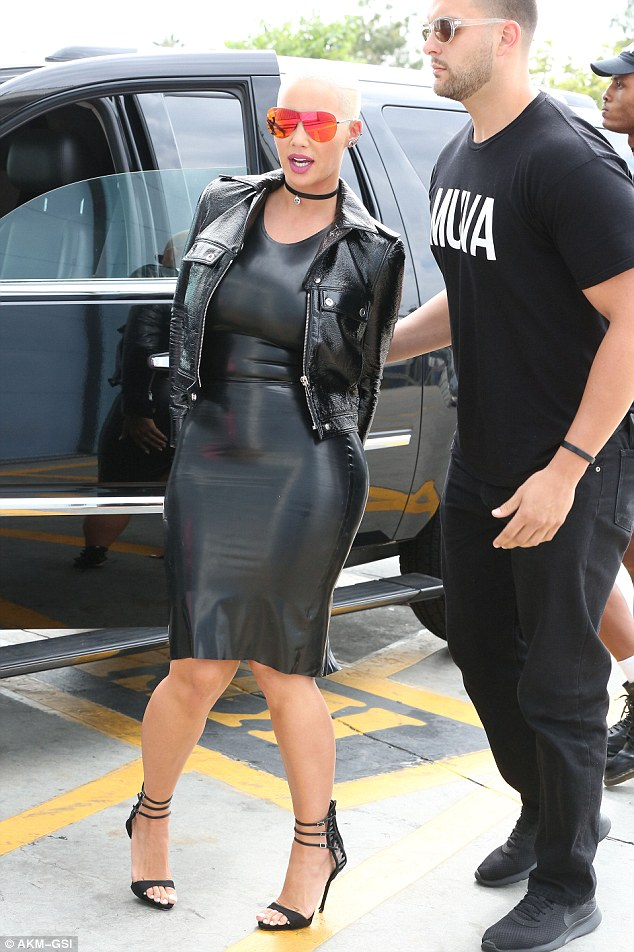 Almost got it right: While her intentions were pleasant in regards to her outfit, it appears Amber Rose's frock could have been a little too tight, as the stunner suffered a wardrobe malfunction