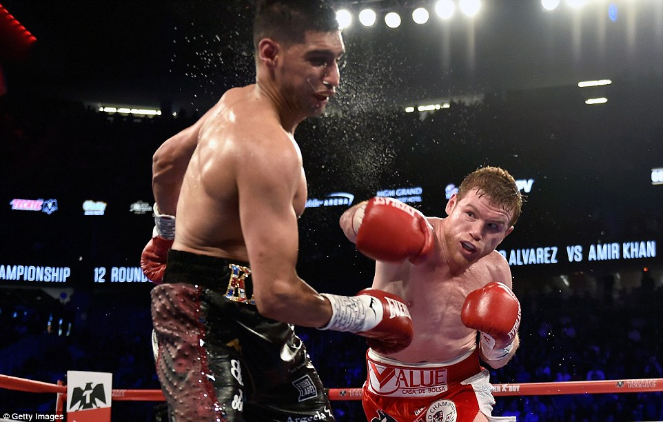 Image result for canelo alvarez ko amir khan