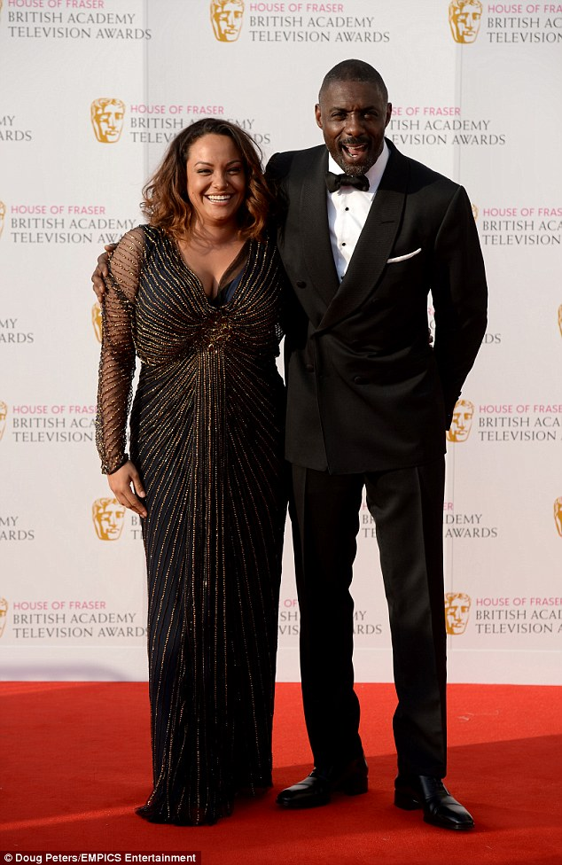 Back together? Idris Elba and Naiyana Garth put on a loved-up display at the British Academy Television Awards on Sunday evening
