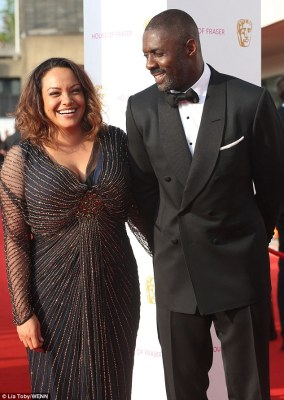 Smitten: The lead actor nominee couldn't hide his joy at having the beautiful Naiyana by his side as he waited to see if he would bag one of the night's biggest awards