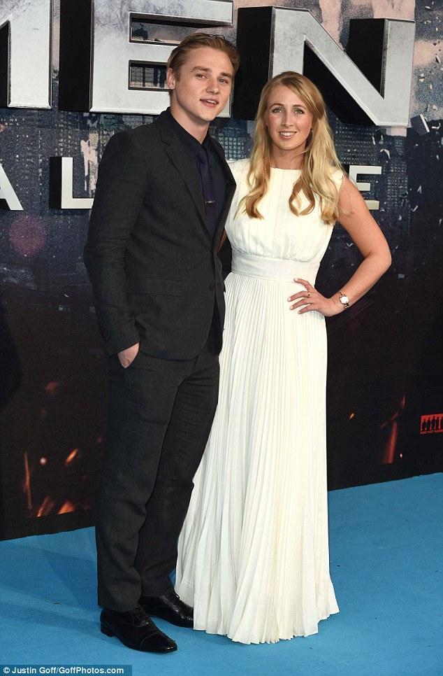 Ex EastEnders Ben Hardy Hugs Jennifer Lawrence At X Men