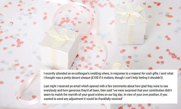 Mumsnet User Posts Email From Bride And Groom Who Said £
