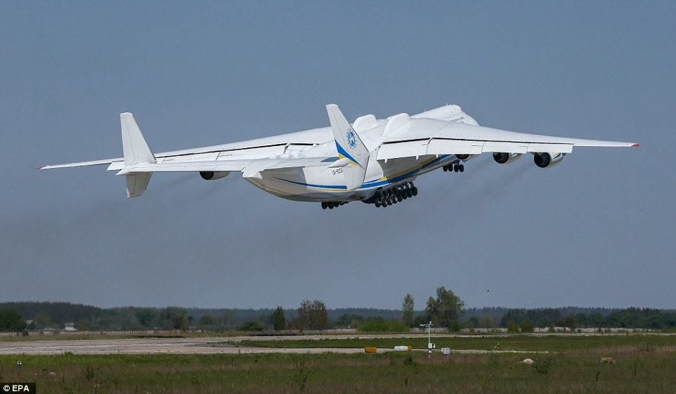 The Ukrainian-built Antonov An-225 Mriya aircraft is making the long journey from Central Europe to the Australian Outback
