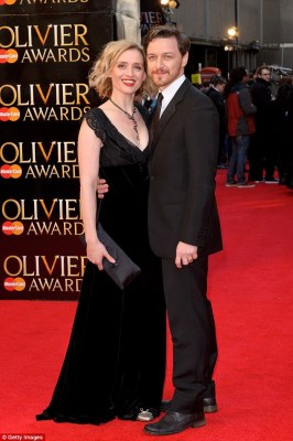 Sad split: James McAvoy and Anne-Marie Duff are calling it quits after nine years of marriage, announcing the news in a joint statement