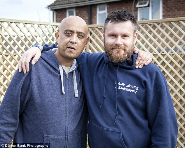 Generosity:Keith Ellick, left, was diagnosed with terminal cancer and feared he didn't even have the money to pay for a funeral. His worries about his family's future inspired boss Addam Smith to act