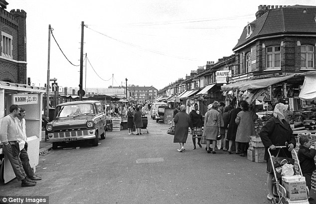 But White British 'East Enders' say immigration is killing off traditions that used to be commonplace in the area in the 1970s (pictured), according to new BBC documentary Last Whites of the East End