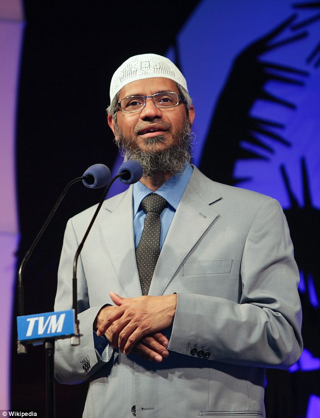 Dr Zakir Naik is an Indian cleric who has been banned from entering Britain since 2010 for saying 'every Muslim should be a terrorist'