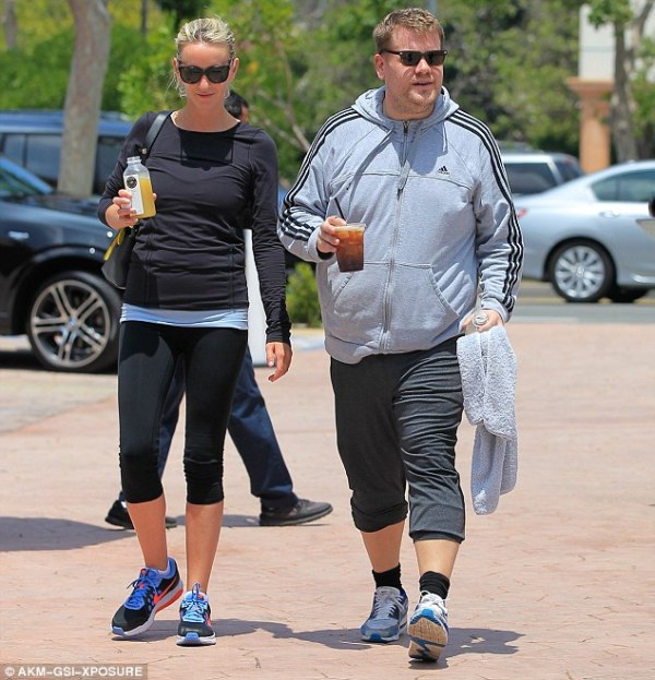 James Corden's wife Julia Carey flashes her toned legs for ...