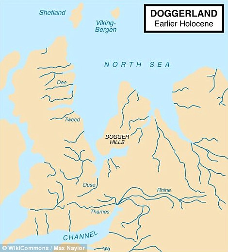 Rather than a continuous solid landmass, archaeologists believe Doggerland was a region of low-lying bogs and marshes connecting the British Isles to Europe and stretching all the way to the Norwegian trench (pictured)