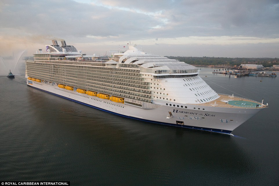 It took 32 months to build Harmony of the Seas, which is the 25th cruise ship in Royal Caribbean International's fleet