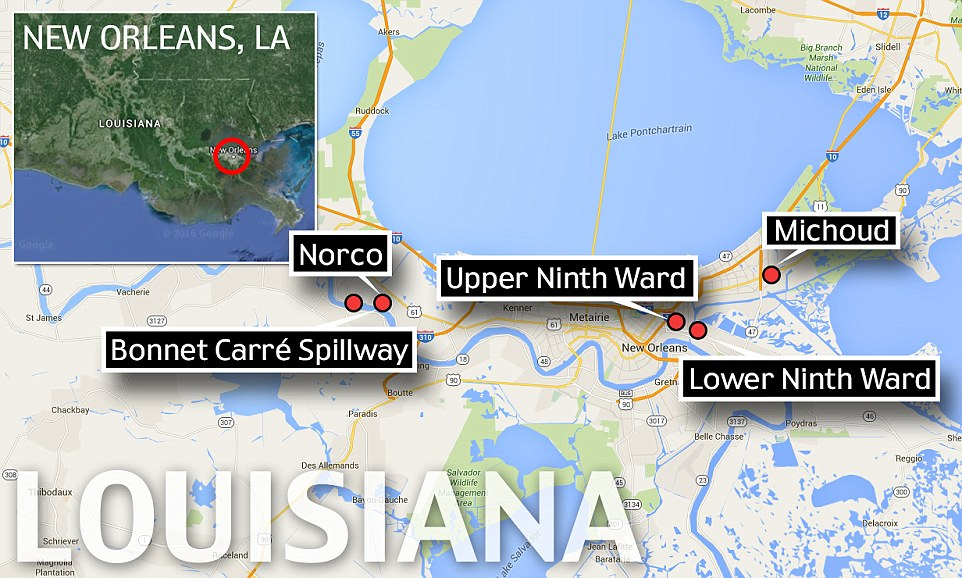 New Orleans Lower Ninth Ward Map