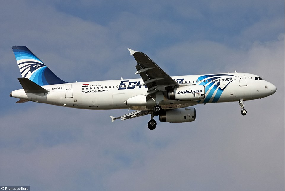 Vanished: EgyptAir flight MS804  heading from Paris to Cairo is believed to have crashed into the sea after disappearing from radar. There were 66 people on board the Airbus A320 (pictured) that vanished 40 minutes before it was set to land in Egypt early Thursday morning