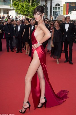 Bella Hadid stole the show last night when she took to the red carpet of the Cannes Film Festival in a plunging scarlet gown, however it appears she may have taken inspiration from elsewhere