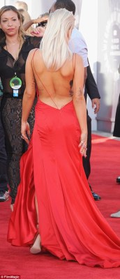 The dresses also shared the same open back detail