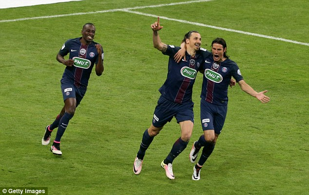 Ibrahimovic added a second late in the game to secure a second consecutive treble for PSG