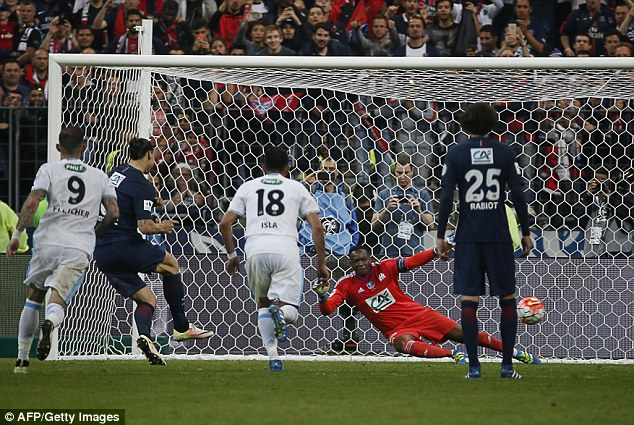 Ibrahimovic calmly slots home a second half penalty after Matuidi was brought down in the area