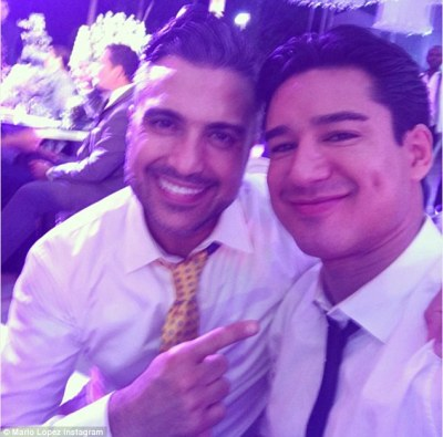 Famous pals: The Extra host, who is close with Eva, snapped a selfie with Jane The Virgin star Jaime Camil