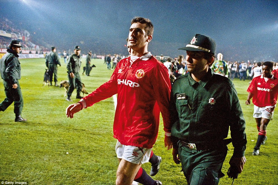 Eric cantona leading manchester united out against galatasaray in. Eric Cantona at 50 in pictures: Sportsmail reflects on the ...