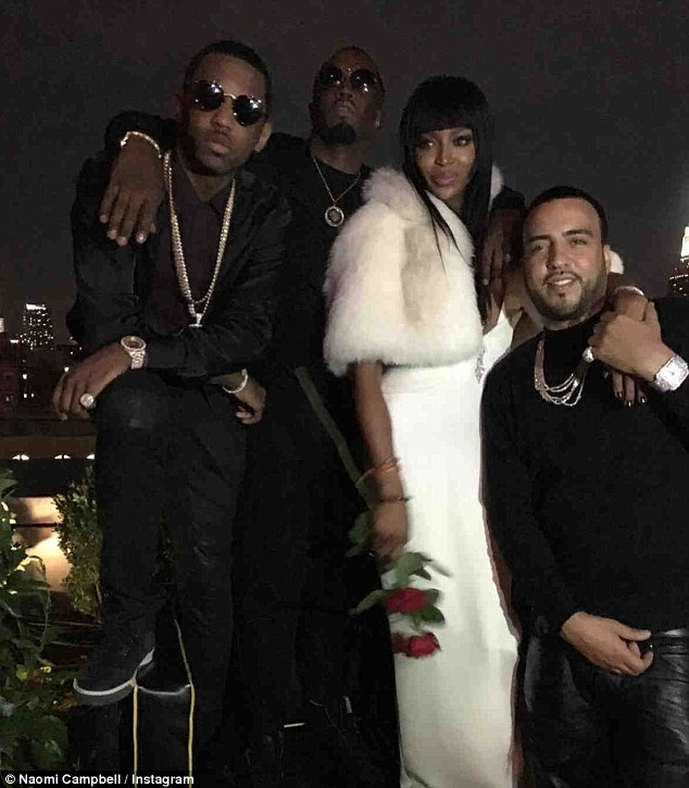 Time to party: Among the 90 guests, was also Khloe Kardashian's ex French Montana